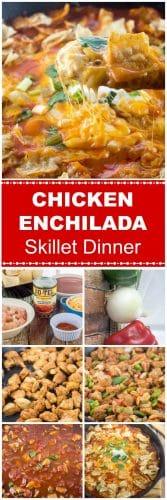 Chicken Enchilada Skillet Dinner Long Pin Flavor Mosaic