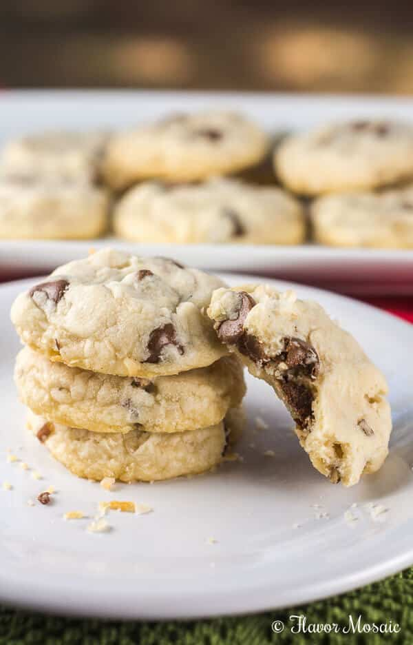 Chocolate Chip Pecan Shortbread Cookies are rich, sweet, buttery, crumbly, melt in your mouth shortbread cookies with chocolate chips and chopped pecans.