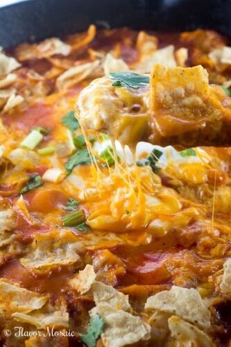 Easy Chicken Enchilada Skillet Dinner