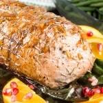 Orange Pomegranate Rosemary Pork Roast