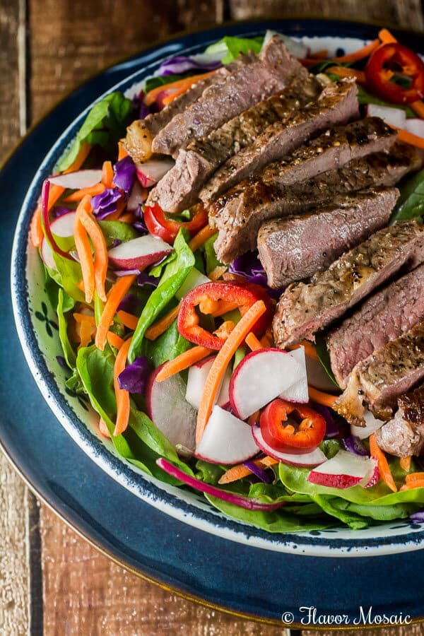 Thai Steak Salad is incredibly flavorful with grilled sirloin steak on ...
