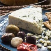 Easy Blue Cheese and Olive Plate