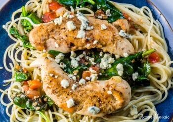 Chicken Spinach Spaghetti