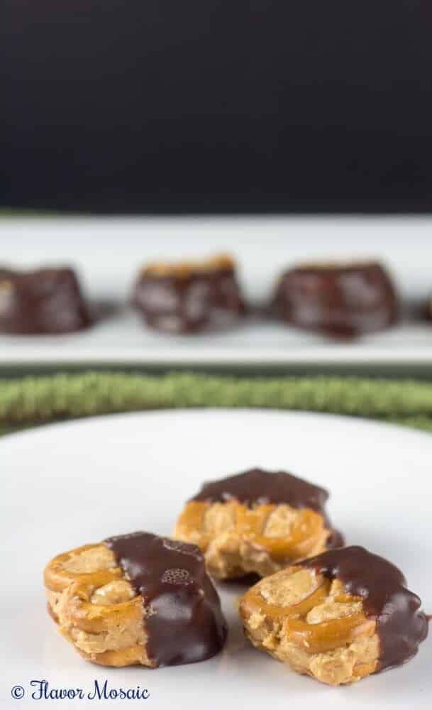 Chocolate Dipped Peanut Butter Pretzel Bites