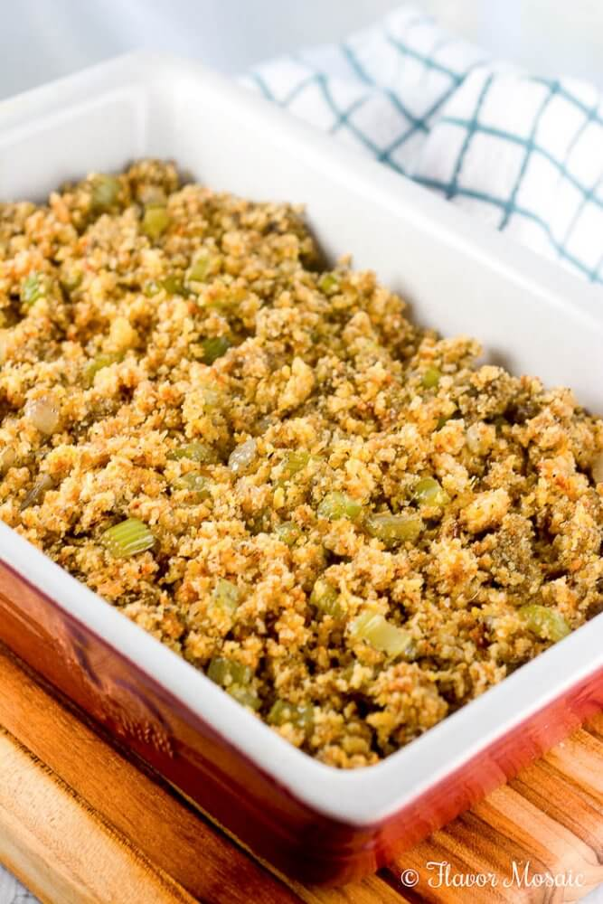 Easy Cornbread Dressing Cornbread Stuffing Recipe Thanksgiving