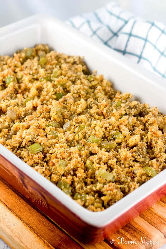 cornbread dressing stuffing easy recipe thanksgiving recipes mix flavor flavormosaic homemade simple scratch dry mosaic serving any