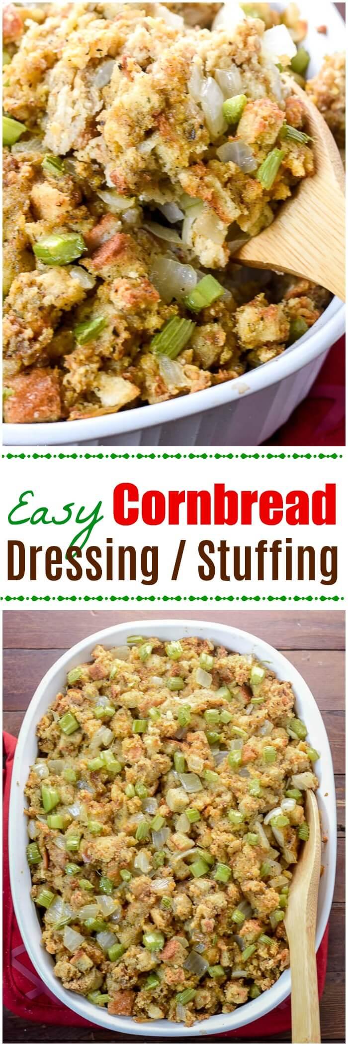 Easy Cornbread Dressing Stuffing