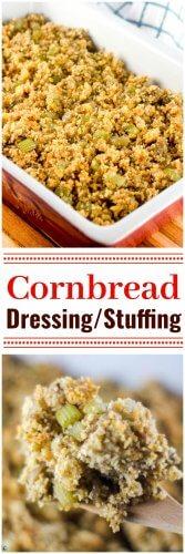 Easy Cornbread Dressing Stuffing Thanksgiving