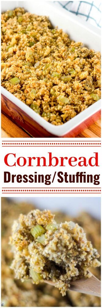 Easy Cornbread Dressing Stuffing Thanksgiving