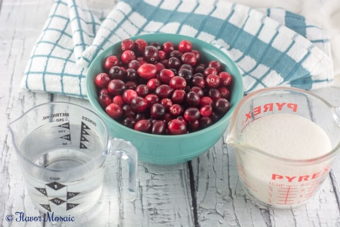 This Homemade Cranberry Sauce for Thanksgiving can be made with only 3 ingredients and tastes much better than the canned stuff.