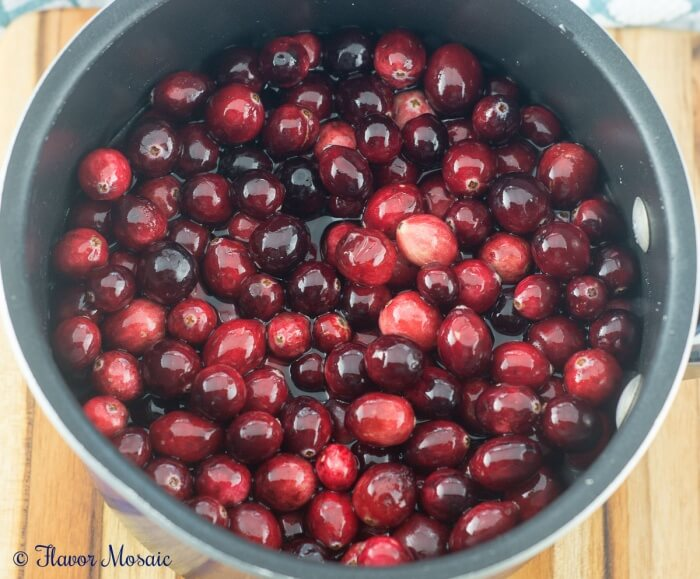 Homemade Cranberry Sauce for Thanksgiving can be made with only 3 ingredients.