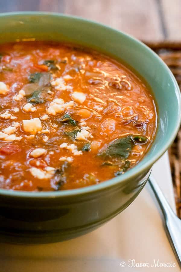Mediterranean Vegetarian Chili by Flavor Mosaic-