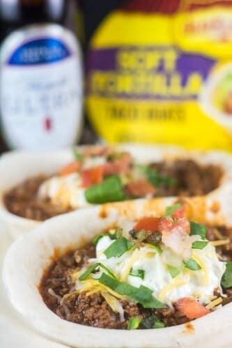 Beef Enchilada Taco Boats