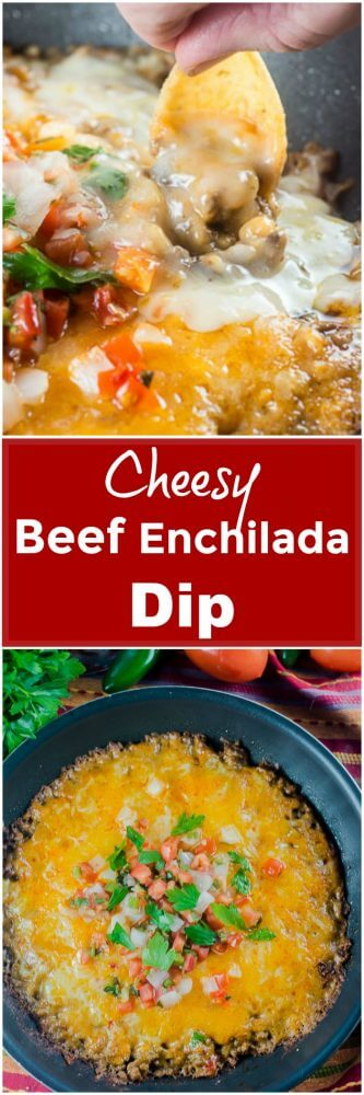 Cheesy Beef Enchilada Dip