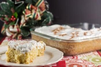 Eggnog Tres Leches Cake - Flavor Mosaic