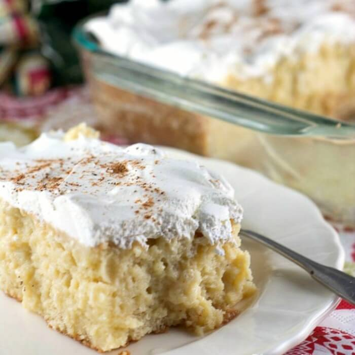Eggnog Tres Leches Cake is one of the 16 Showstopping Holiday Dinner Recipes Your Guests will Love