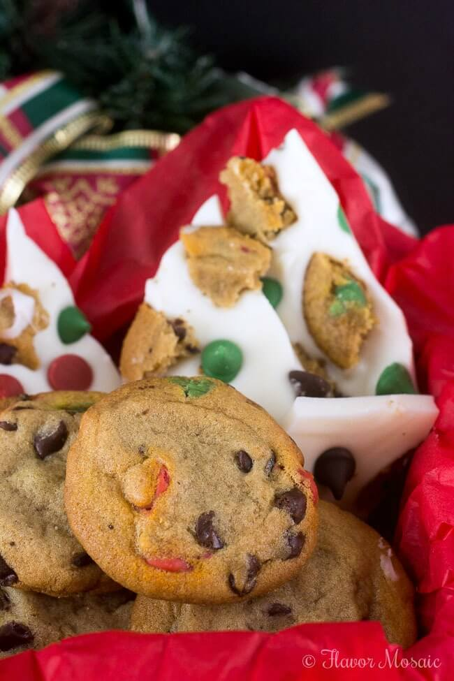 Holiday Chocolate Chip Cookie Bark Candy