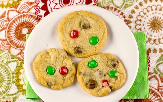Santa's Favorite Cookies with Chocolate Chips and M&M's - 12