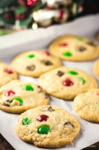 Santa's Favorite Cookies with Chocolate Chips and M&M's recipe is a wonderful, chocolate chip cookie recipe for the whole family to enjoy!