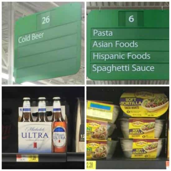Walmart In-store Photo Old El Paso Taco Boats n Michelob Ultra Beer