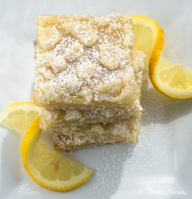 Lemon Crumb Bars - Flavor Mosaic 3