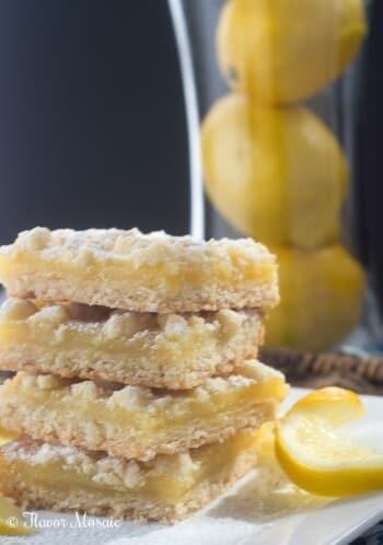Lemon Crumb Bars - Flavor Mosaic