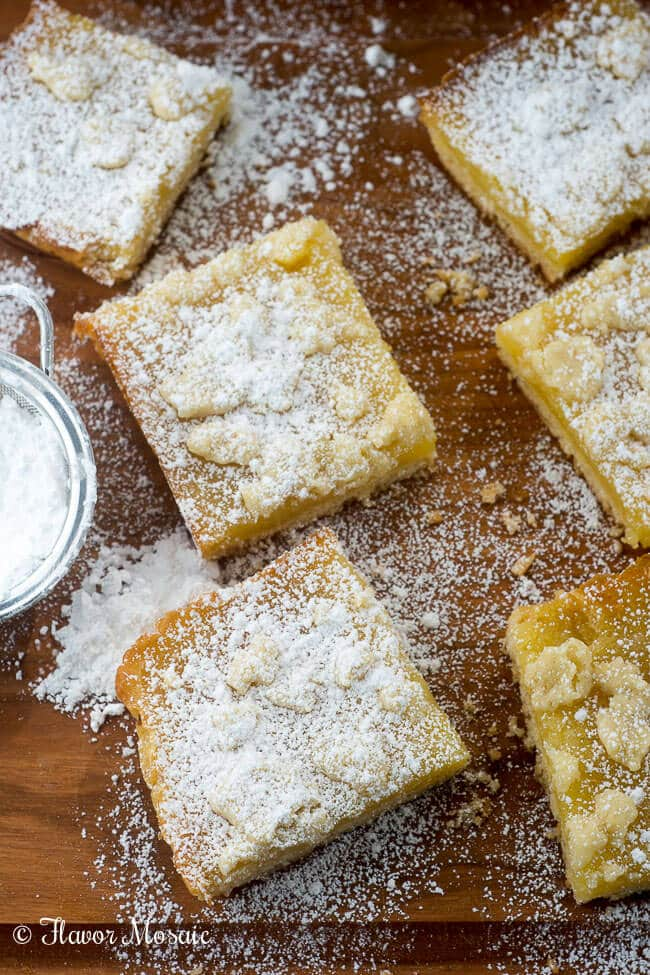 Lemon Crumb Bars - Flavor Mosaic