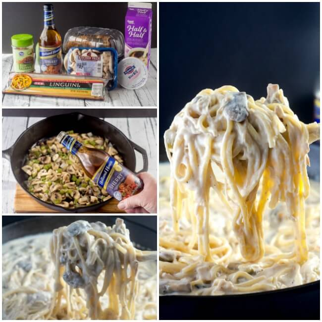 Chicken Tetrazzini with Asiago Cream Sauce
