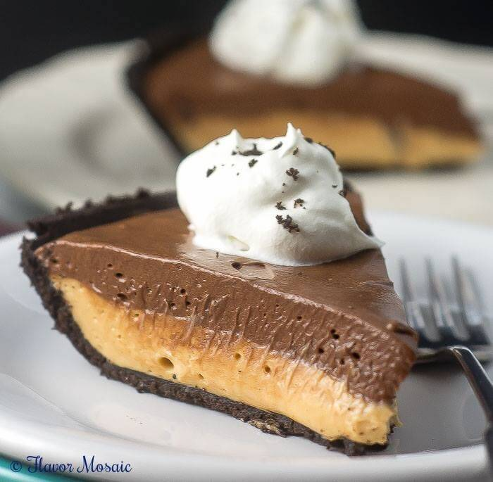 Chocolate Peanut Butter No Bake Pie