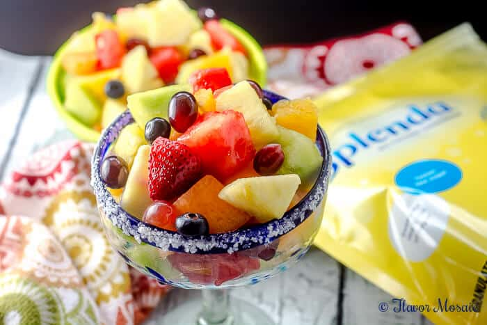 Fresh Fruit Salad with a Virgin Margarita Dressing