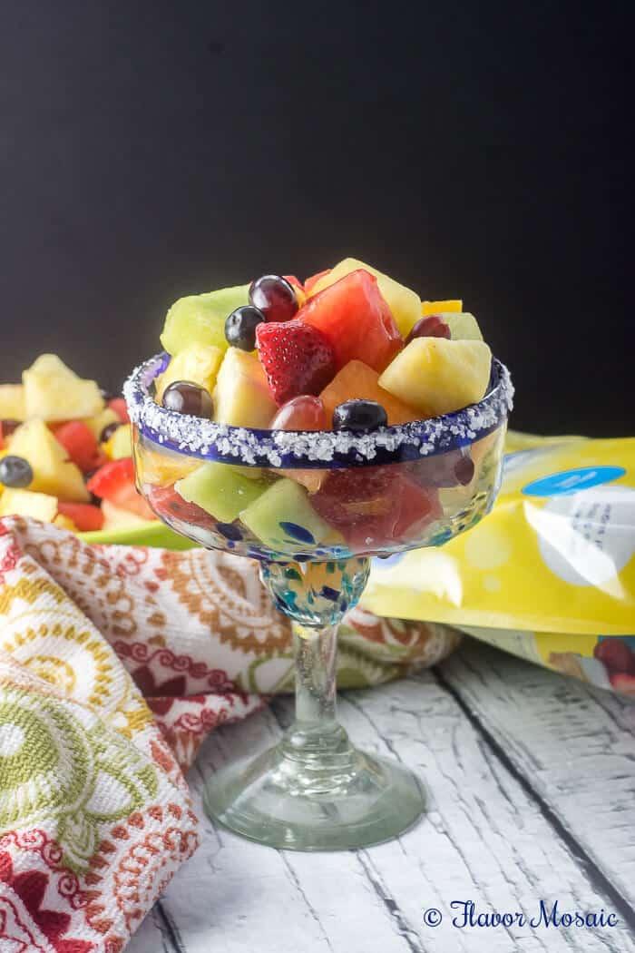 Fresh Fruit Salad with a Virgin Margarita - Flavor Mosaic