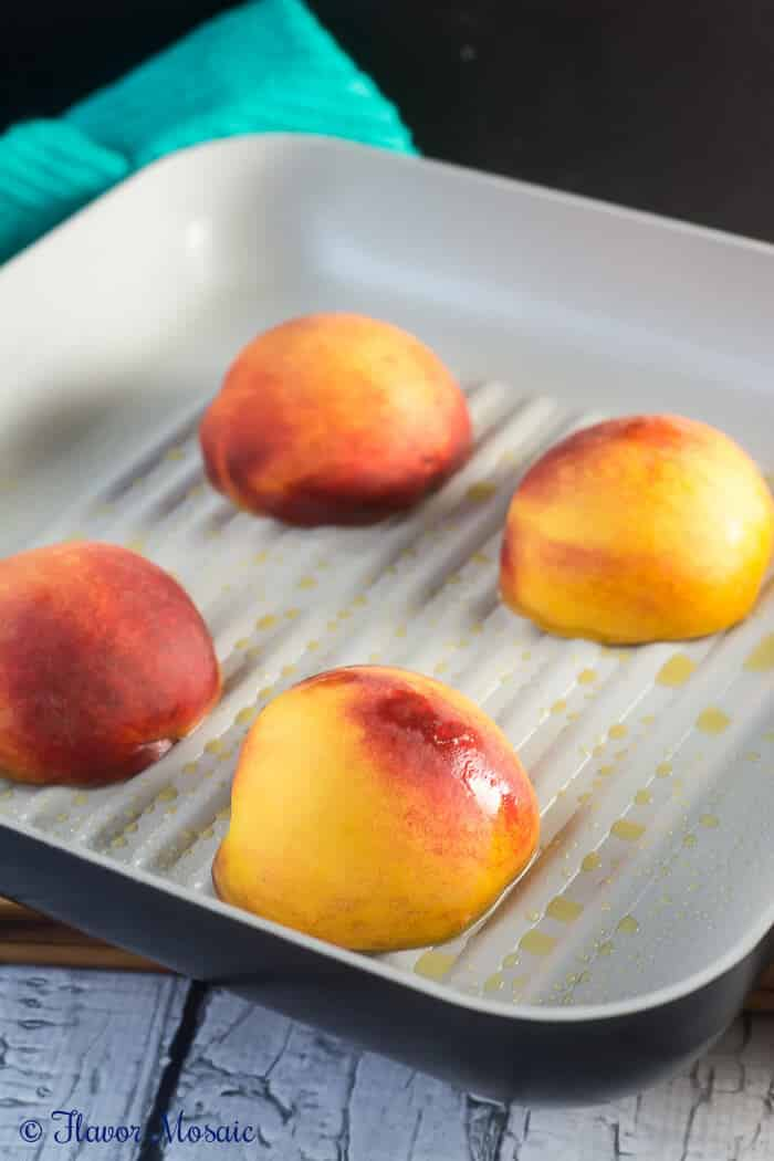Grilled Peaches with Yogurt and Granola - Flavor Mosaic