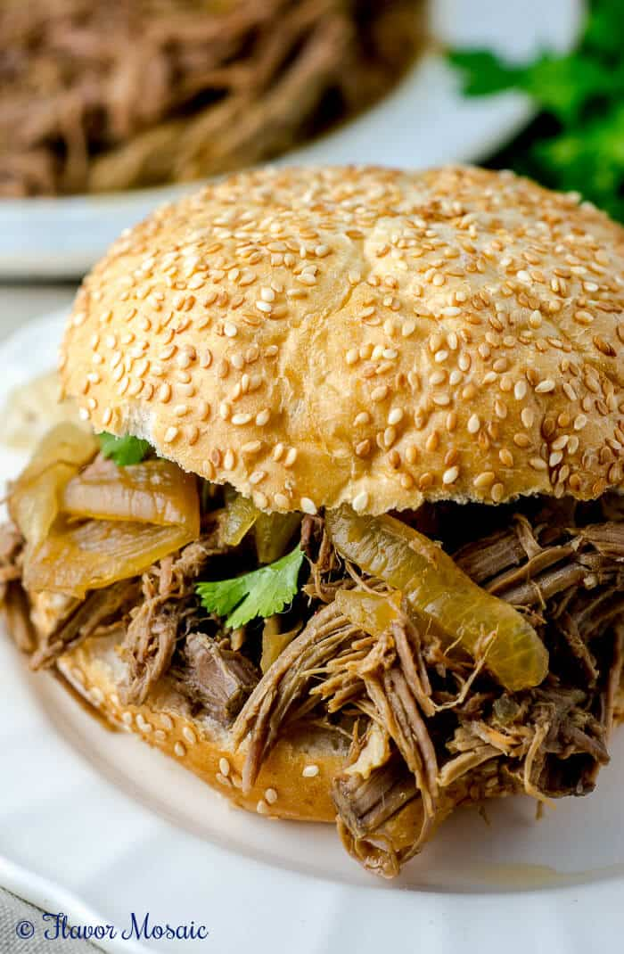 Slow Cooker Pulled Pork Sandwiches Recipe by Flavor Mosaic