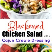 Blackened Chicken Salad with a Cajun Creole Dressing