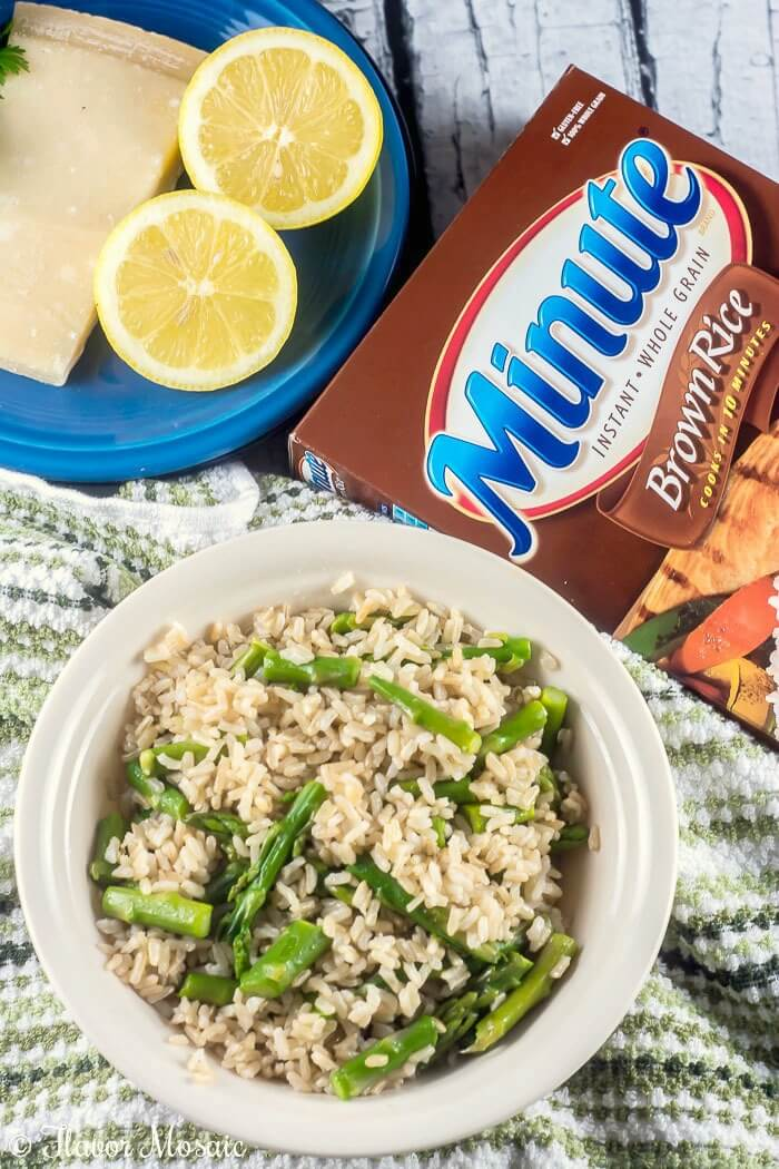 Lemon Asparagus Asiago Brown Rice