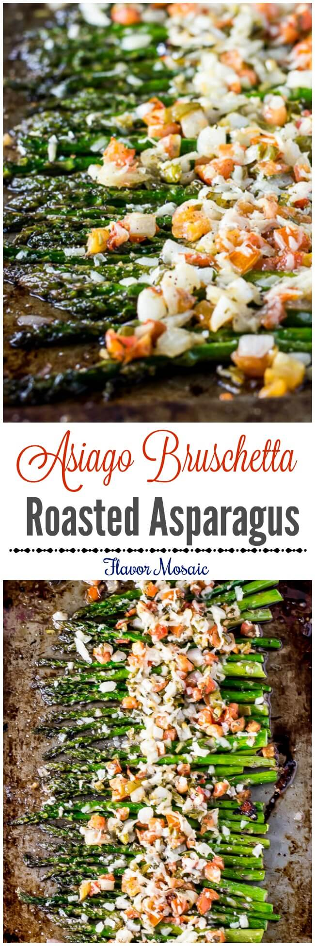 Asiago Bruschetta Roasted Asparagus