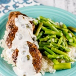 Balsamic Pork Medallions with Caper Cream Sauce