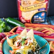 Chicken Nachos Stuffed Poblanos