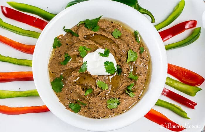 Southwest Black Bean Hummus Quesadilla