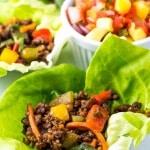 Asian Lettuce Wraps with Mango Habanero Salsa