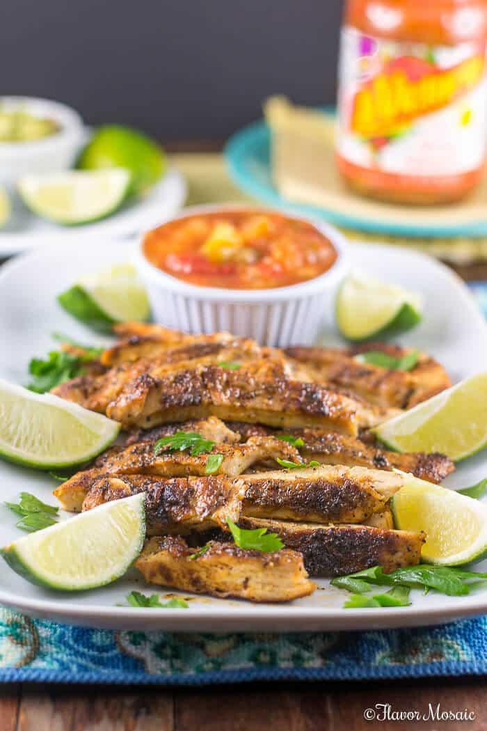 Blackened Chicken Tacos with Mango Habanero Salsa