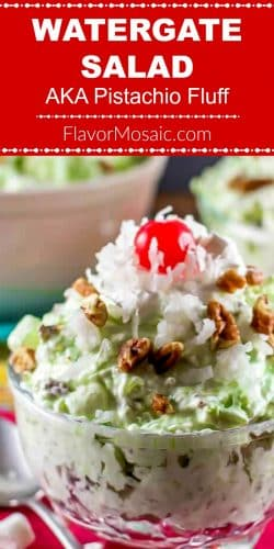 Watergate Salad AKA Pistachio Fluff Pin with Red Label and photo
