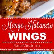 Mango Habanero Wings Flavor Mosaic Long Pin