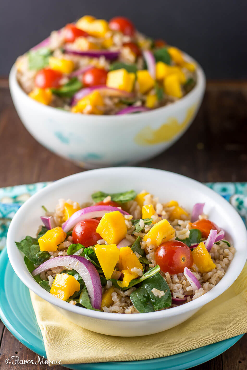 Mango spinach rice salad flavor mosaic for Rice side dishes for fish