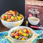 Mango Spinach Rice Salad