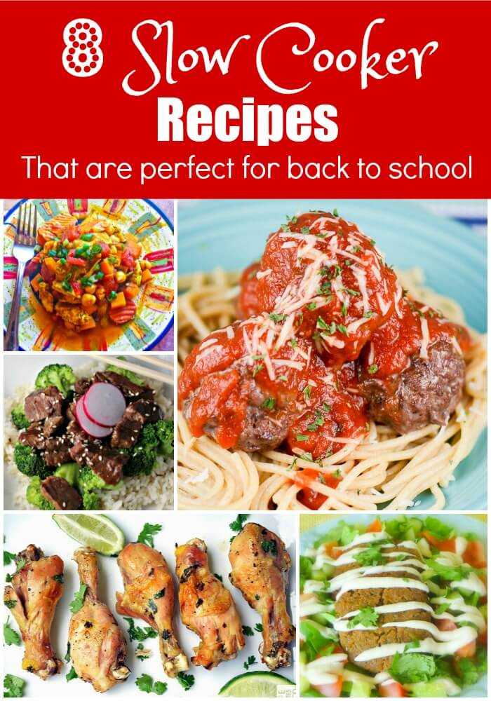 8 Slow Cooker Recipes for Back to School
