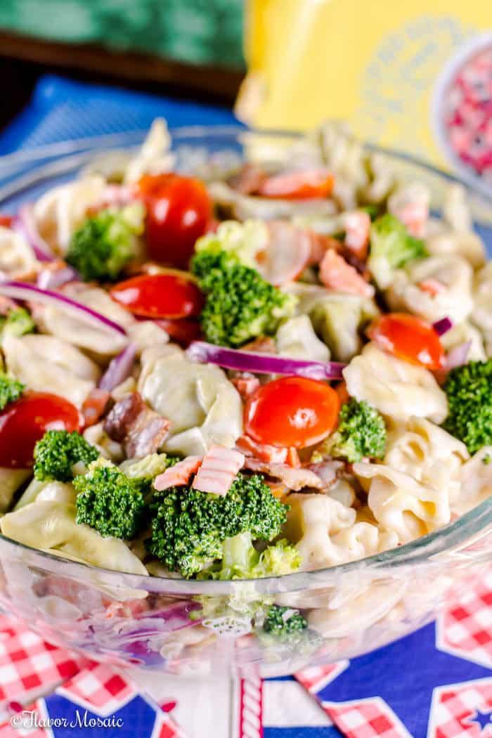 Bacon Broccoli Tortellini Salad