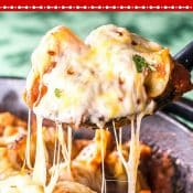Cheesy Tortellini Skillet Lasagna Pin Red Label Flavor Mosaic