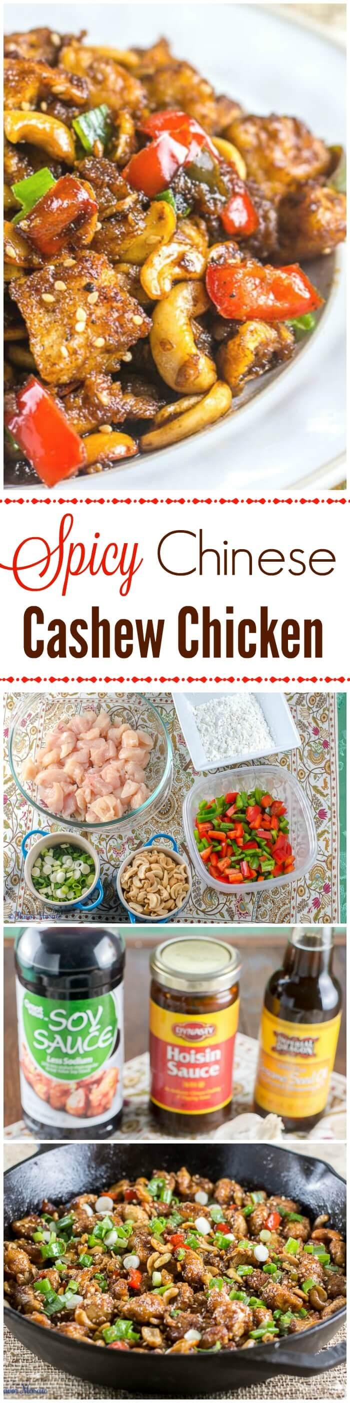 Spicy Chinese Cashew Chicken