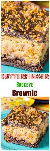 Butterfinger Buckeye Brownie